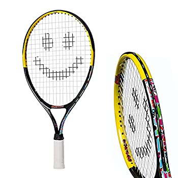 Tennis Rackets for Kids by Street Tennis Club Proper Equipment Helps You Learn Faster and Play Better!  Black/Yellow 17
