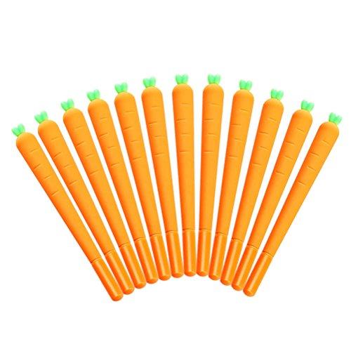 NUOLUX Karottenstift Gel Tintenstift RollerBall Pen für Büro und Schule Geschenk für Kinder 12 Pack