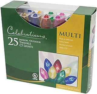 Celebrations B42UC212 Twinkle C7 Light Set, 24', Multi Color
