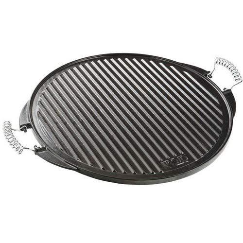Vaello La Valenciana Grillplatte aus emailliertem Gusseisen, rund, Schwarz, gusseisen, Schwarz , 32 cm