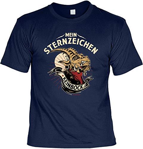 Grappige print T-shirt Mijn sterrenbeeld Keinbock 4heroes cadeauset met minishirt