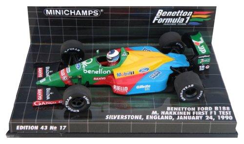 Minichamps - 400890219 - Véhicule Miniature - Benetton B 188 - First F1 Test Silverstone 1990 - Echelle 1/43