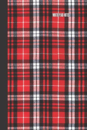 winter plaid notes: small lined Buffalo Plaid Notebook / Travel Journal to write in (6'' x 9'') 120 pages