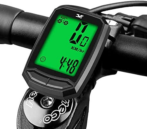 Bicycle Speedometer Waterproof Wireless Cycle Bike Computer Bicycle Odometer with LCD Display product image