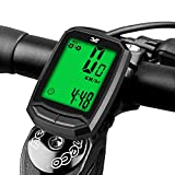 Bicycle Speedometer Waterproof Wireless Cycle Bike Computer Bicycle Odometer with LCD Display & Multi-Functions
