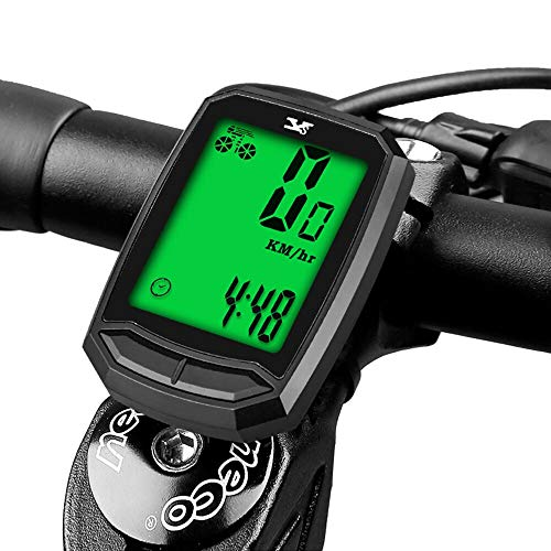 Bicycle Speedometer Waterproof Wireless Cycle Bike Computer Bicycle Odometer with LCD Display & Multi-Functions