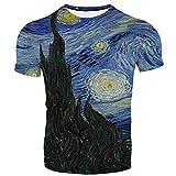 SSBZYES Camisetas De Talla Grande Para Hombre Camisetas De Hombre Camisetas De Manga Corta Para Hombre Pintura Al óleo De Van Gogh Impresión Digital 3d Camisetas De Manga Corta Con Cuello Redondo Para