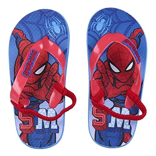 Cerdá- 2300004735_T2627-C56 Chanclas de Verano para Niños de Spiderman, Color Rojo (2300004735-T26/27-BL)