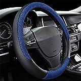 DC Microfiber Leather Auto Car Steering Wheel Cover Anti-slip Universal 15'/38cm (BLUE)