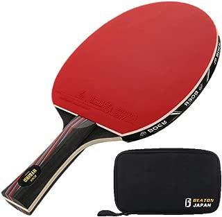 BEATON JAPAN 卓球ラケット シェークハンド 本格派 保護フィルム ケース付き