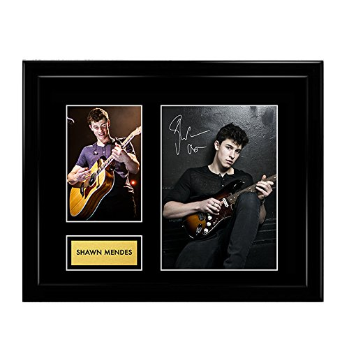 Shawn Mendes Signed Autographed Photo Mat Custom Framed 11 x 14 Replica Reprint Rp