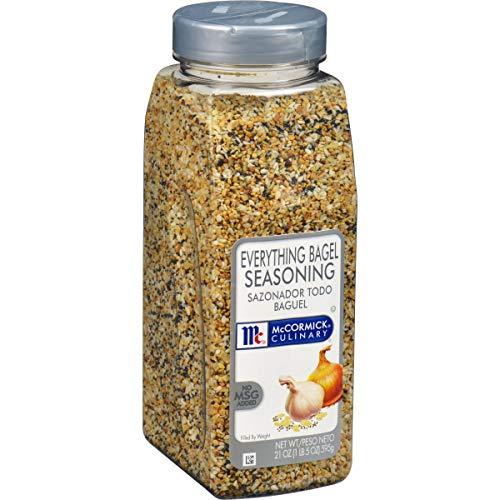 McCormick Culinary Everything Bagel Seasoning, 21 oz - One 21 Ounce Container of Everything Bagel Seasoning Blend of Poppy Seed, Sesame Seed, Garlic, Onion and Salt