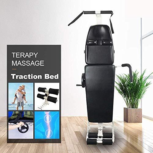 Drohneks Table de lit de Massage cervicale, lit de Traction Lombaire, équipement d'étirement du...