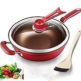 Olla de cocina 32 cm hierro freying sartén término de calor...