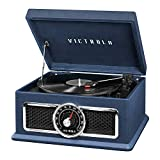 Best Vintage Record Players - Victrola 4-in-1 Nostalgic Plaza Bluetooth Record Player Review