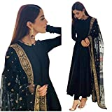 Yashika Fashion Women's Salwar Suit (Black)