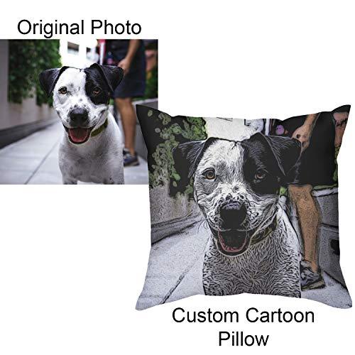 Toll2452 Personalizado Imagen de dibujos animados Manta de la Almohada Personalizada de Mascotas Almohadas de Personalizado de dibujos animados de la foto de la almohada de regalo personalizado regalos únicos