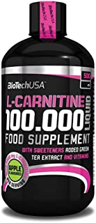 BioTech USA IAF00070558 L-Carnitine 100000 Liquid, 500 ml, Ciliegia