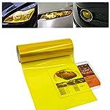 1797 ヘッドライトフィルム テールランプフィルム カーラッピングフィルム アイラインフィルム 30×120CM 自動車 バイク ヘッドライト フォグランプ テールランプ 適用 ステッカー ビニール シール クリア イエロー 黄色