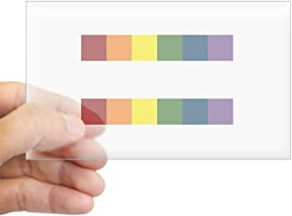 CafePress Gay Rights Equal Sign Sticker (Rectangle) Rectangle Bumper Sticker Car Decal