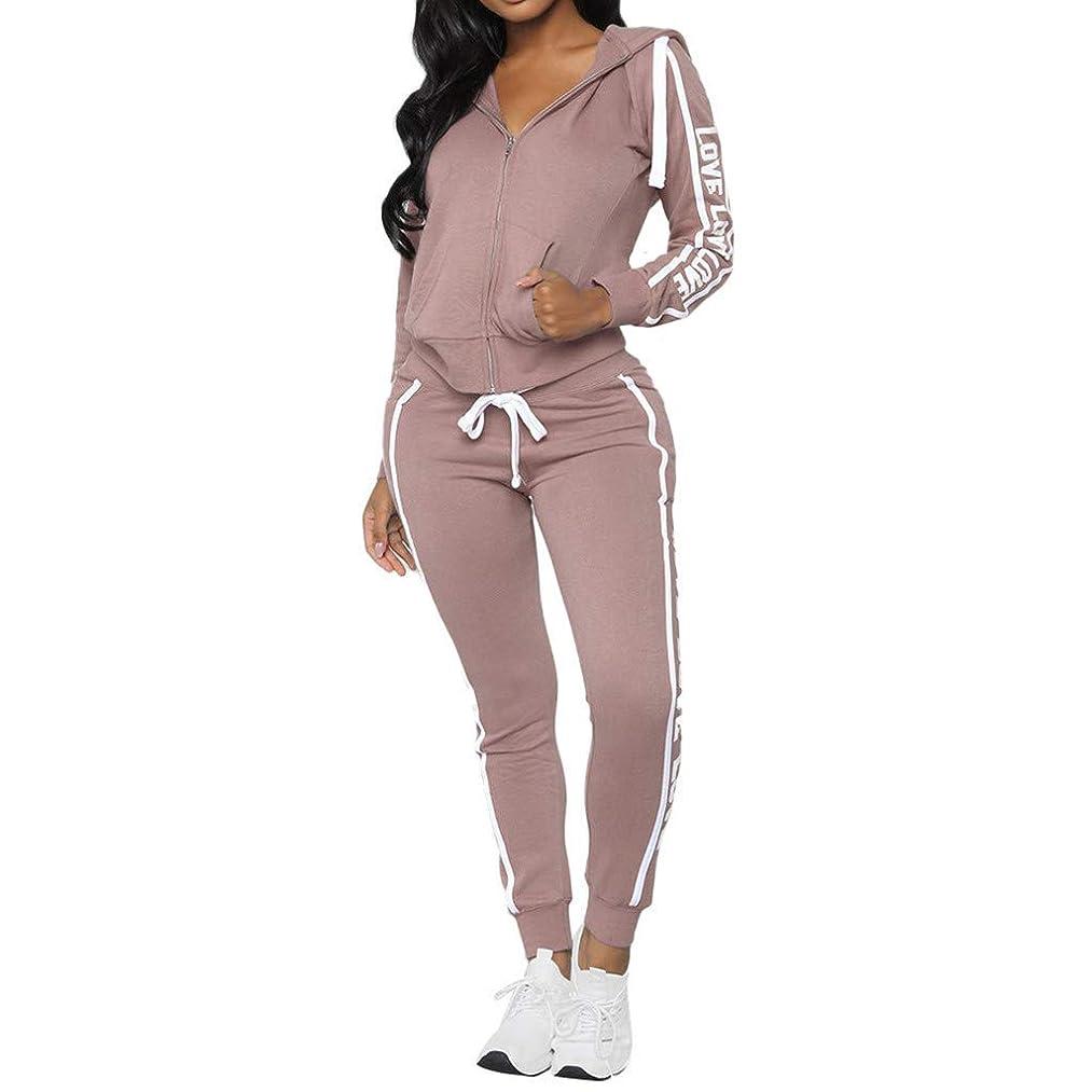 Hoodies Women's 2 Piece Sweatsuit - Long Sleeve Crop Top Hooded Sweatshirt Letter Print High Waist Bodycon Pants Set Jogging Suits Joggin Spring Pieces Size Sweatsuits 20 With Sweater Girls Sportwear