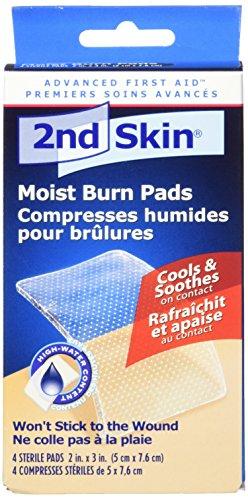Spenco 2nd Skin Moist Burn Pads, Medium (2 x 3 Inches), 4-Count