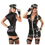 Juguetes Erotismo Para MujerDisfraz de policía sexy para mujer Disfraz de policía femenina de Halloween Policía Uniforme de mujer policía Traje de cosplay-Disfraz de policía sexy_L_Mujer policía