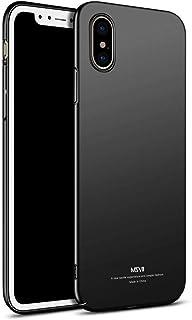 الغطاء الخلفي لآيفون X شاملة-- جميع تبو الغطاء الصلب الهاتف قذيفة ضئيلة ماتي مكافحة سقوط القضية أسود