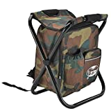 FSHB Outdoor Fishing Chair Bag Folding Camping Stool Portable Backpack Cooler Insulated Picnic