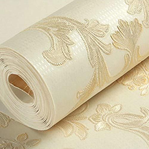 Behang, geperst, vliesbehang 0.53m*10m 5c83103 Milk Tea Color