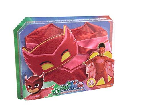 Giochi Preziosi Super Pigiamini Pj Masks Costume Travestimento Gufetta, Colore Rosso, Taglia Unica, PJM074