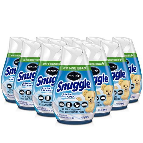 Renuzit Snuggle Solid Gel Air Freshener, Linen Escape Scent, 7 Oz, 12Count