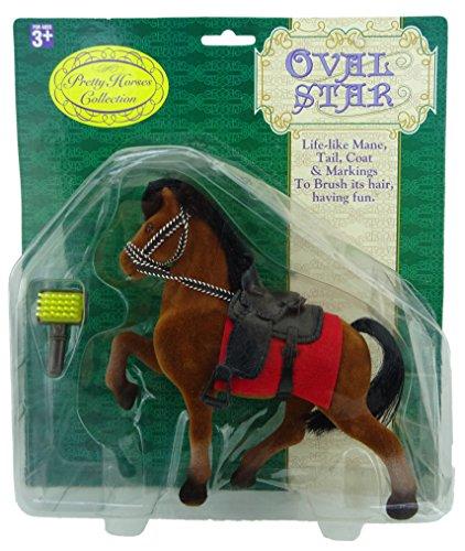 Bruin Gevlekt Speelgoedpaard met Jas en Borstel - mooie paardencollectie