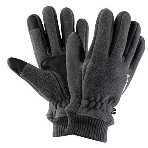 Aniwon Sporthandschuhe Winterhandschuhe Touchscreen Handschuhe Herren rad handschuhe Laufhandschuhe Rad winterhandschuhe Fahrrad Outdoor-Handschuhe Männer und Frauen Schwarz