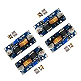 D-PLANET [4-PACK] 5A DC-DC Adjustable Buck Converter 4~38v to 1.25-36v Step Down Power Supply High Efficiency Voltage Regulator Module
