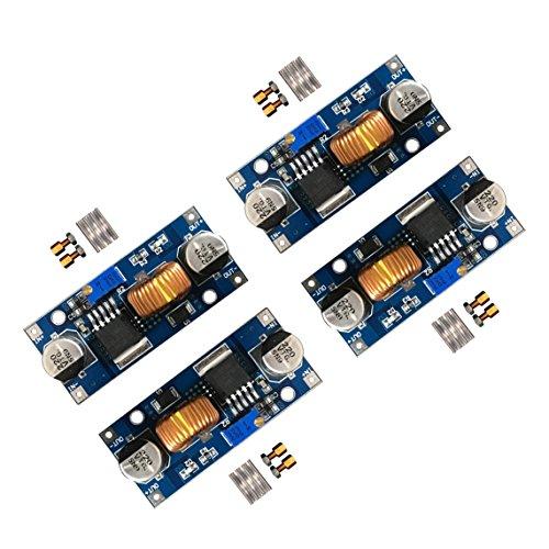 D-PLANET [4-PACK] 5A DC-DC Adjustable Buck Converter 4~38v to 1.25-36v Step Down Power Supply High Efficiency Voltage Regulator Module