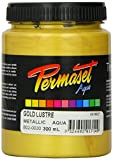 Permaset Aqua - Tinta para serigrafía textil (300 ml, ecológico, tinta dorada)