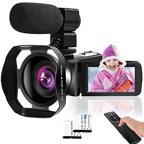 Video Camera 4K Camcorder 60FPS Vlogging Camera for YouTube 18X Digital Zoom Vlogging Camera IR Night Vision Video Camera Support Webcam and Microphone