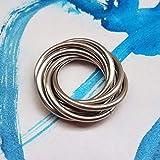 Fidget Spin Ring: Möbii Wearable, Stainless Steel Ring: Loose Rings Möbius Moving Rolling Fidget Design