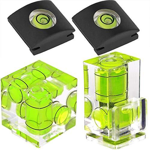 Blitzschuh Wasserwaage ChromLives Kamera Hot Shoe Cover Hot Schuh Level 2 Axis Bubble Wasserwaage kompatibel mit Film Kamera,Combo Pack 2 und 1 Achse, Hot Shoe Level Compo Pack