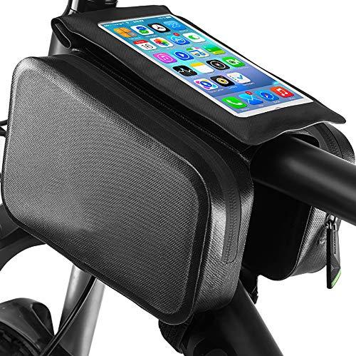 SOFIL Sacoche de téléphone pour Cadre de vélo avec écran Tactile Sacoche pour vélo de Montagne Pochette Support pour Smartphone