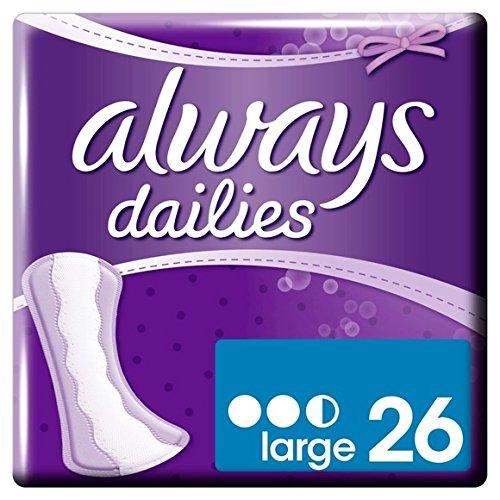 Always - Protège-slips large - Le paquet de 26 - (pour la quantité plus que 1 nous vous remboursons le port supplémentaire)