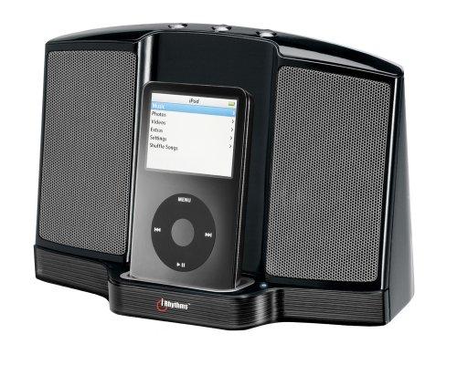 iRhythm A461 - Docking Station con altoparlanti portatile per iPod, colore: Nero