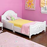 White Finish Tiffany Style Kid's Toddler Cot Bed Frame