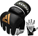 RDX MMA Gloves for Grappling Martial Arts | Genuine Cowhide Leather...