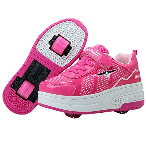 KE Luce Unisex Bambini LED Sneakers gommati...
