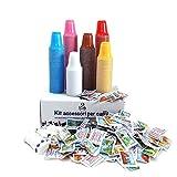 AURACAFFE' Kit Accessori caffè - 450 Bustine di Zucchero - 450 Palette - 450 Bicchierini Colorati