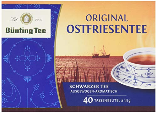 Bünting Tee Original Ostfriesentee Schwarzer Tee, 40 Teebeutel