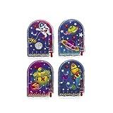 cama24com Mini Space Weltraum Flipper Mitgebsel Pinball 12 Stück mit Palandi® Sticker
