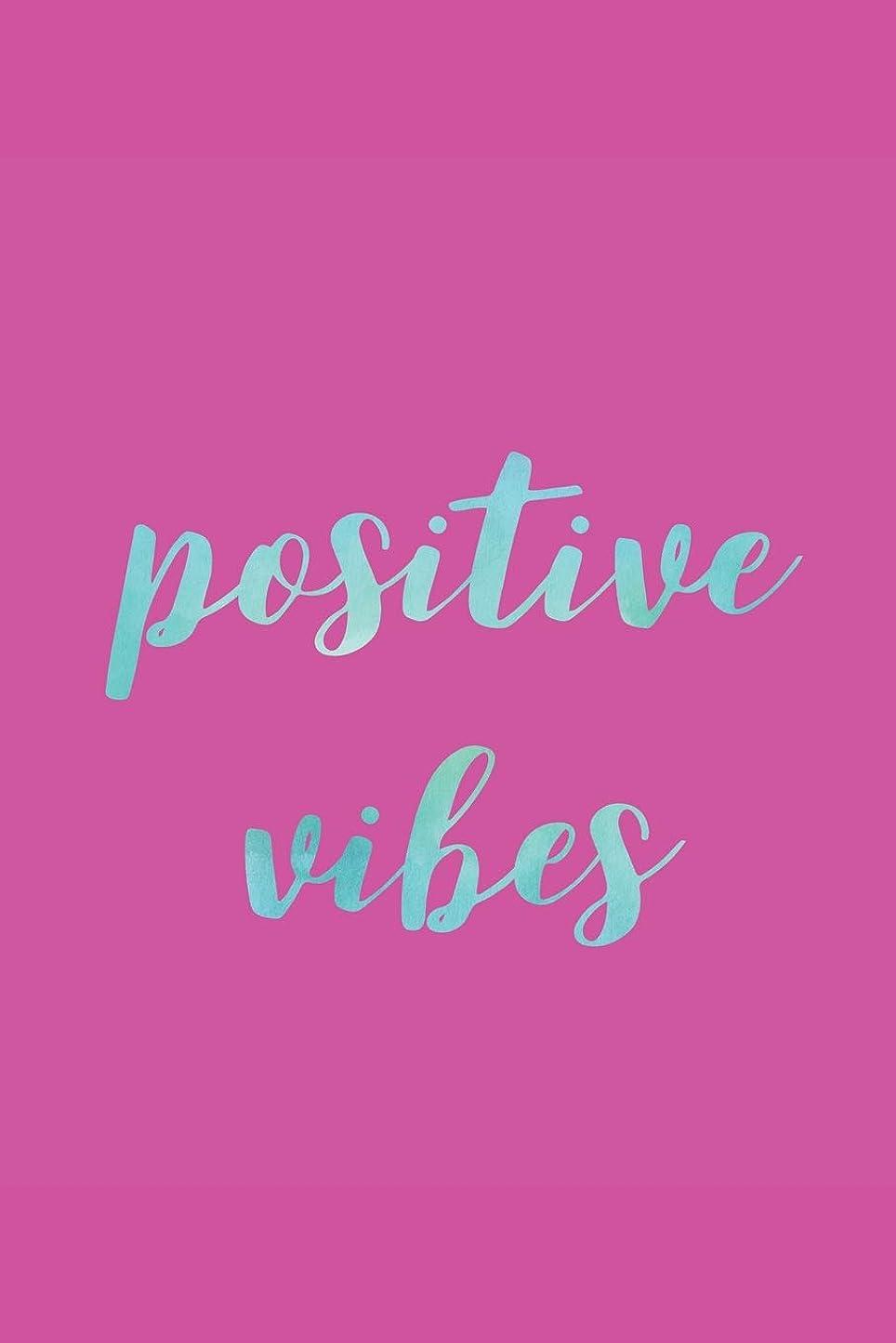 提供補助金恥ずかしいPositive Vibes: 105 Page Dot Grid Journal : 6x9 : Aqua & Hot Pink Cover